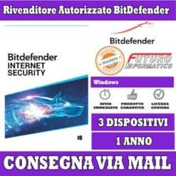 Bitdefender internet security 3 pc 3 anno