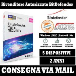 Bitdefender Total security 5 pc 2 Anni