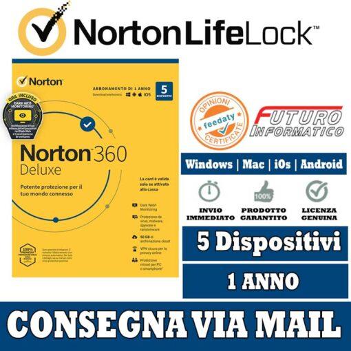 Nuovo Norton 360 5 dispositivi