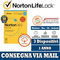 Norton 360 3 Dispositivi 1 anno