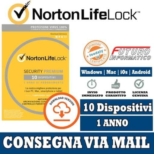 norton security premium 10 dispositivi