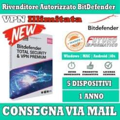 Total Security & VPN Premium 5 device 1 Anno