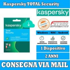 Kaspersky total Security 1 computer 2 Anni