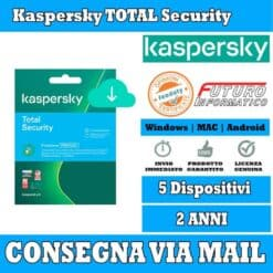 Kaspersky total Security 5 computer 2 Anni