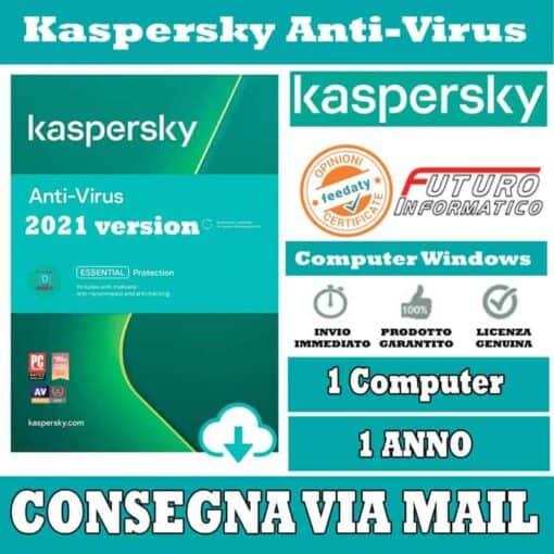 Kaspersky Anti-Virus 1 Computer 1 Anno