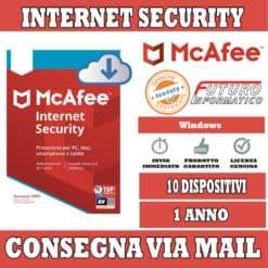 McAfee internet Security 10 dispositivi