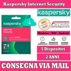 Kaspersky Internet Security 5 computer 2 Anni
